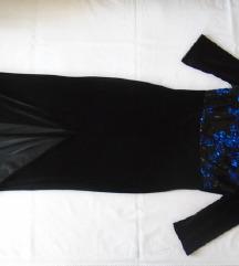 Plišana haljina sa šljokicama