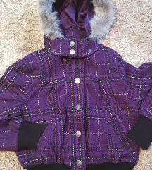 Kratka ženska ljubičasta jakna