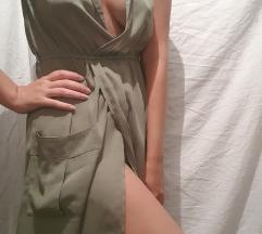 Zelena haljina sa dekolteom S
