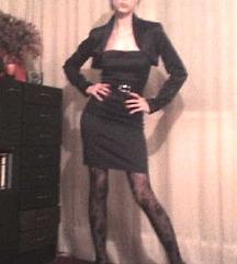 Crna svecana italijanska top haljina