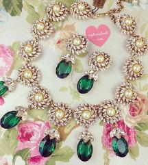 Smaragdna kristalna ogrlica