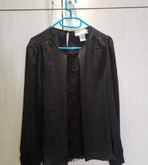 NOVO crna bluza sa čipkom nikad nošena