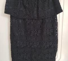 Crna cipkana suknja