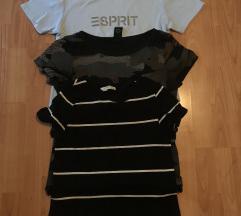 3 majice za 1000 zara, bench, esprit