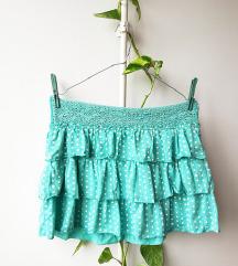 Tally Weijl tirkiz mini suknja 💙💚