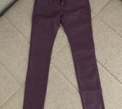 Original Esprit bordo ljubicaste pantalone kozne