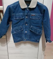 Teksas jakna sa krznom za dečaka vel.6