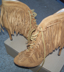 NOVE  kamel cipele sa resama 37