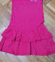Letnja mini haljina na tufne