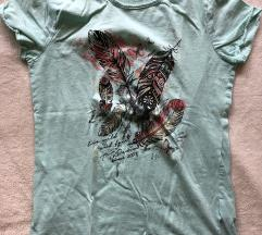 TOM TAILOR majica tirkizne boje M