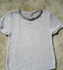 Svecana koncana dzemper-majica sa perlicama
