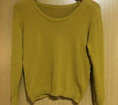 Džemper oker žuti