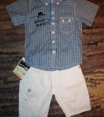 Komplet za dečake 80 košulja i bele bermude - NOVO