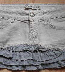 ZARA teksas suknja sa karnerima vel 40