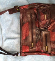 Bordo zenska kozna torba