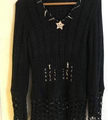 Crna džemper tunika