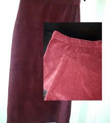 Zimska pamučna suknja_ boja maline  RESERVED