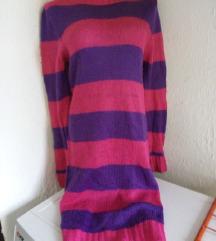 Ljubicasta-pink zimska haljina M