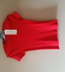 Crvena majca rebrasta xs s fb sister