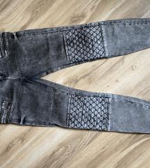 Zara sive teksas pantalone
