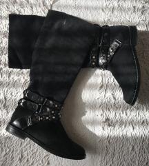 Kožne crne cizme