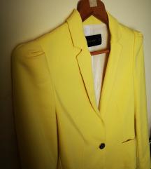 Zara basic žuti sako
