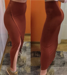 Calliope kamel midi suknja sa izrezom