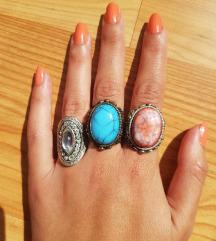 Masivni tirkizni prsten