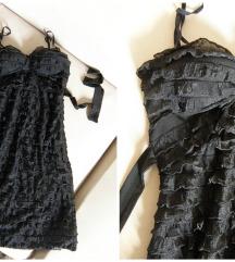 Crna svecana haljina S-M, 36 - 38