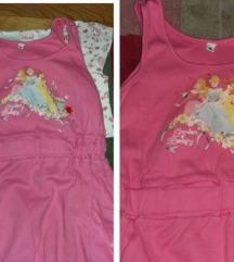 DISNEY original PRINCESS haljina+majica 6 god