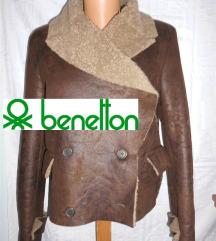 Benetton kozna jakna- monton vel M