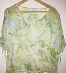 Zelena bluza kosulja cvetna