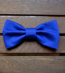 Plava unisex leptir mašna