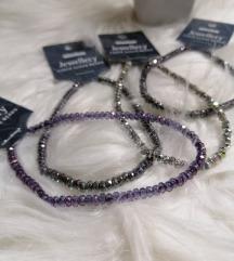 Narukvice sa perlicama od češkog stakla NOVO