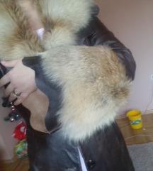 Kozna jakna sa prirodnim krznom  lisice