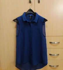 Kraljevsko plava H&M košulja bez rukava