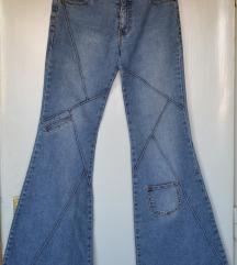 Revolt jeans, farmerke zvoncare, retro