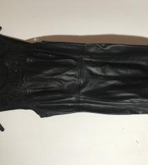 Crna kozna haljina ONLY