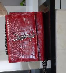 Crvena torbica YSL
