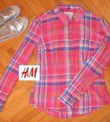 H&M karirana i strukirana košulja