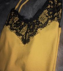 Žuta majica sa čipkom