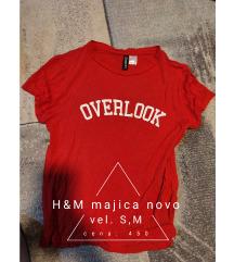 H&M crvena majica Novo S,M