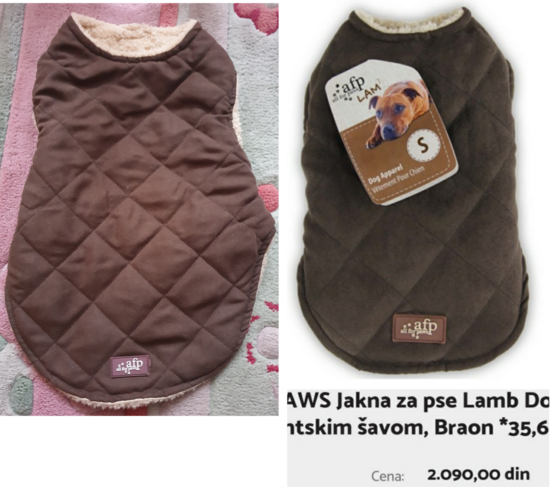 ALL FOR PAWS AFP jakna sa KRZNOM 36cm NOVO