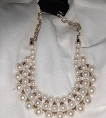Nova biserna ogrlica-bižuterija