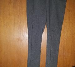 Sive pantalone dublji struk