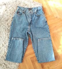 Mom jeans duboke farmerke vel.40