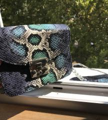 Zmijska print mala torbica