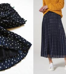 C&A plisirana suknja (print puzeva)