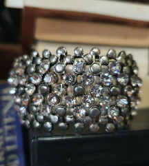 Rastegljiva kombinacija cirkoni metal narukvica