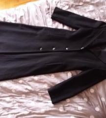 Nov crni dugačak vuneni kaput